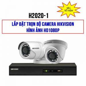 Trọn bộ 2 camera Hikvision