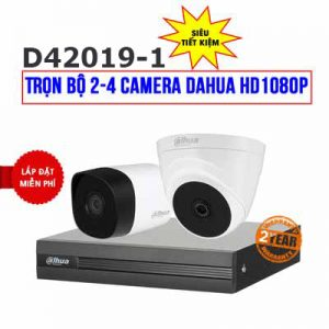 Lắp đặt trọn bộ 2 camera Dahua HD 1080P cho gia đình