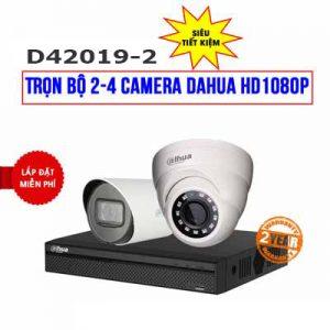 Lắp đặt trọn bộ 2 camera DAHUA HD1080P cho công ty