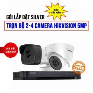 Lắp đặt trọn bộ 2 camera HIKVISION 5MP cho nhà hàng (H42019-4)