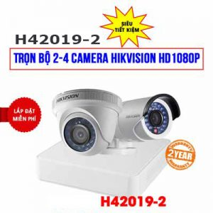 Lắp đặt trọn bộ 2 camera Hikvision HD1080P cho công ty