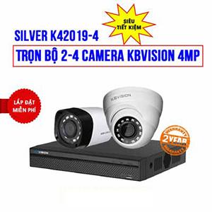 Lắp đặt trọn bộ 2 camera KBVISION 4MP cho công ty (K42019-4)