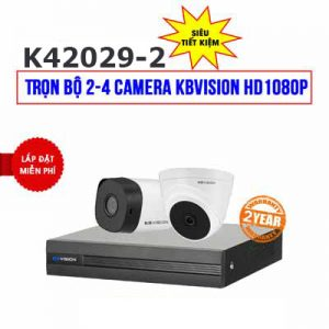 Lắp đặt trọn bộ 2 camera KBVISION HD1080P cho công ty