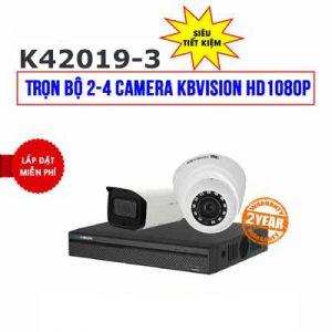 Lắp đặt trọn bộ 2 camera KBVISION HD1080P cho trường học