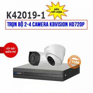 Lắp đặt trọn bộ 2 camera KBVISION HD720P cho gia đình