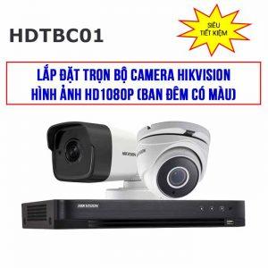 Trọn bộ 2 camera Hikvision Starlight