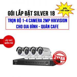 Lắp đặt trọn bộ 1-4 camera 2MP HIKVISION cho Gia đình – Quán cafe