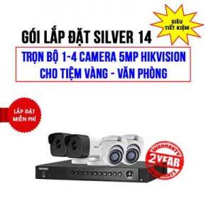 Lắp đặt trọn bộ 1-4 camera 5MP HIKVISION cho Tiệm vàng – Văn phòng