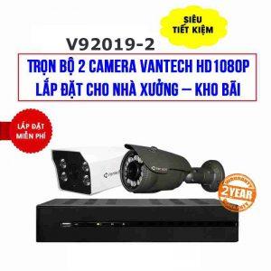 Lắp đặt trọn bộ 2 camera VANTECH HD1080P cho nhà xưởng