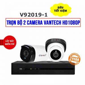 Lắp đặt trọn bộ 2 camera VANTECH HD1080P cho gia đình, shop, công ty