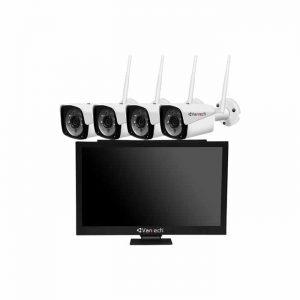 Bộ kit 4 camera IP Wifi 2MP Vantech AI-K4020